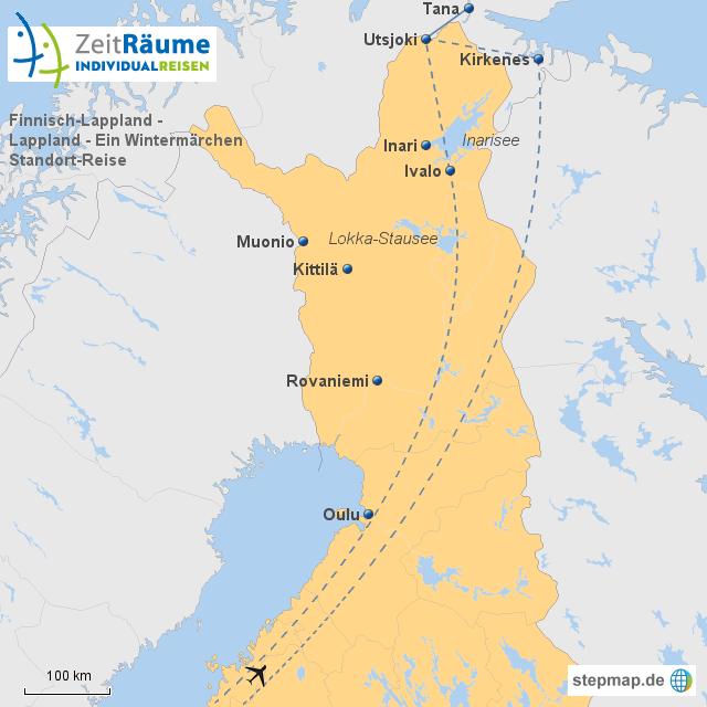 Lappland Karte.Stepmap Finnisch Lappland Lappland Ein Wintermärchen