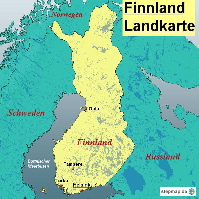 finnland landkarte StepMap   Finnland Landkarte   Landkarte für Finnland finnland landkarte