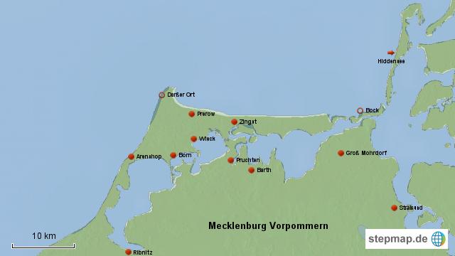 Fischland Darß Zingst Karte.Stepmap Fischland Darss Zingst Landkarte Für Deutschland