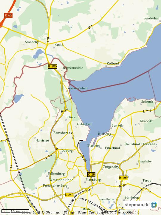 Flensburg Karte.Stepmap Flensburg Dänemark Landkarte Für Welt