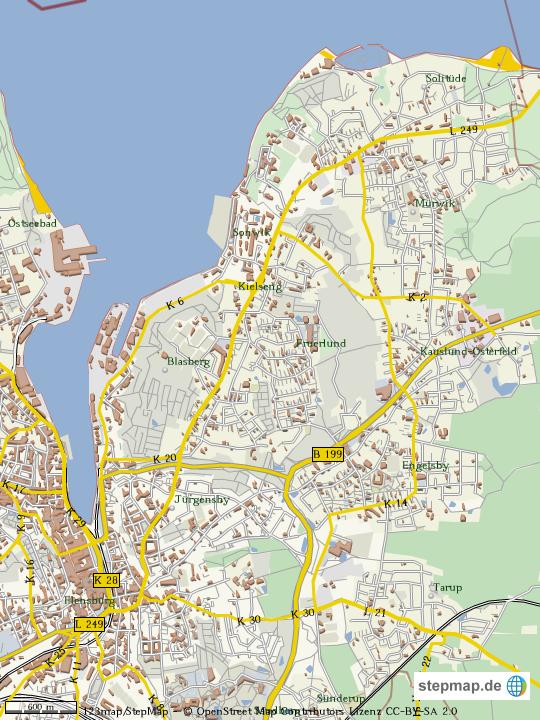 Flensburg Karte.Stepmap Flensburg Sonwik Landkarte Für Welt