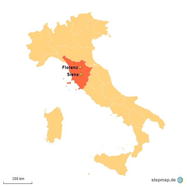 florenz landkarte italien StepMap   Florenz   Siena   Landkarte für Italien