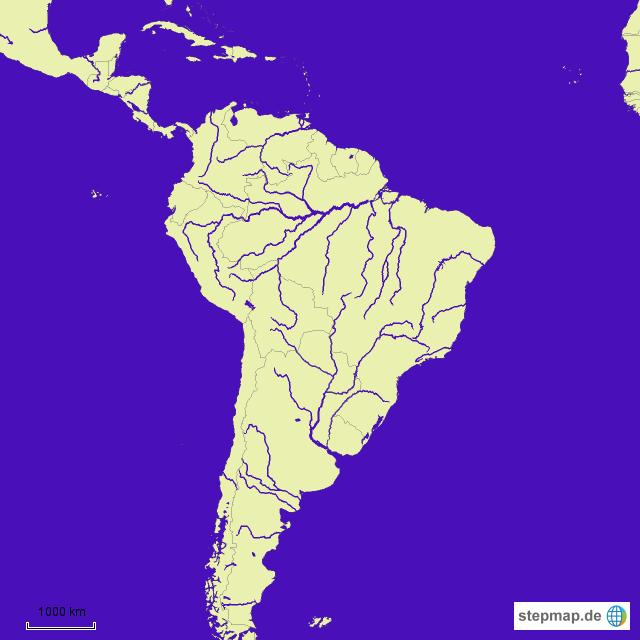 Stepmap Flusse Landkarte Fur Sudamerika