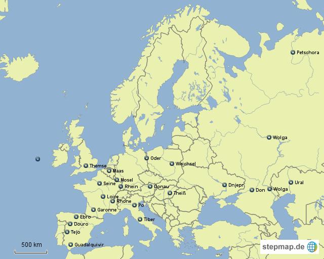 flüsse europa karte StepMap   Flüsse Europa   Landkarte für Europa