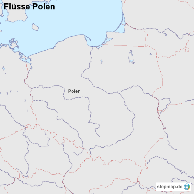 Stepmap Flusse Polen Landkarte Fur Polen