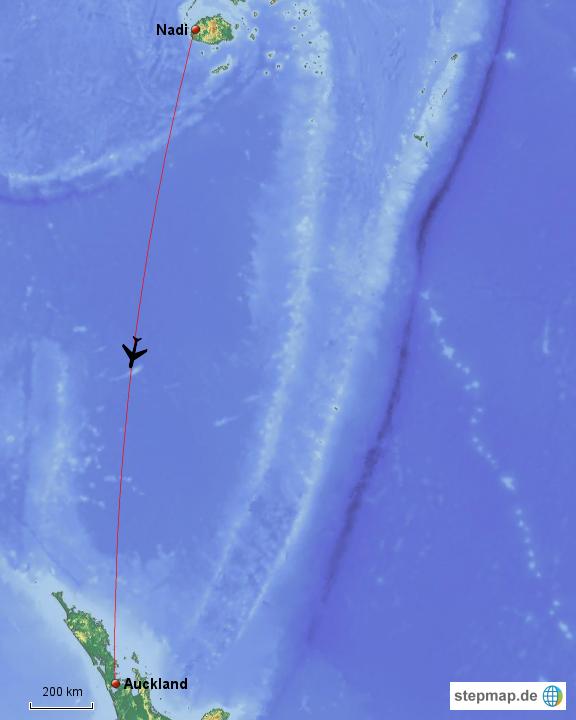 Flug Nach Fiji
