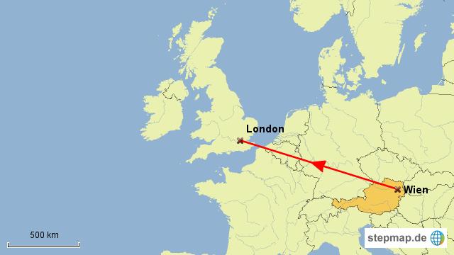 Stepmap Flug Wien London Landkarte Für österreich
