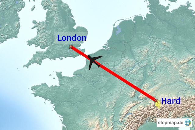 Stepmap Flug Nach London Landkarte Für Europa