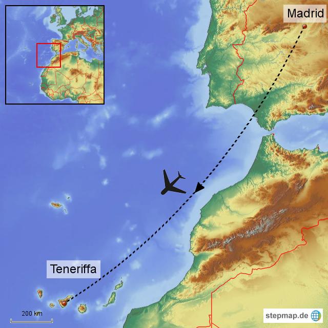 Teneriffa Karte Spanien.Stepmap Flug Nach Teneriffa Landkarte Für Spanien