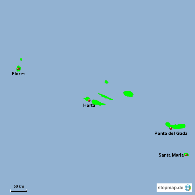 Azoren Karte Portugal.Stepmap Flughäfen Azoren Landkarte Für Portugal