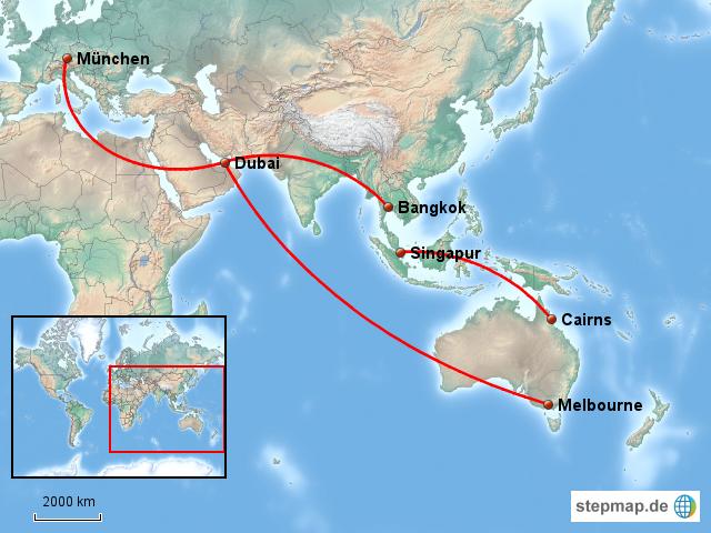 Flugrouten Karte.Stepmap Flugrouten Landkarte Fur Welt
