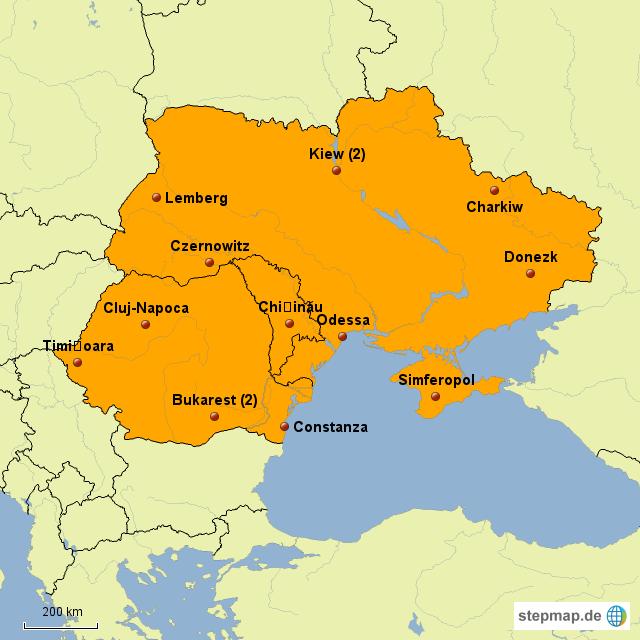 Moldawien Karte.Stepmap Fluhäfen Ukraine Moldawien Rumänien Landkarte Für Europa
