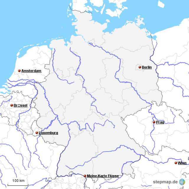 fluss landkarte deutschland StepMap   Fluss Karte   Landkarte für Deutschland