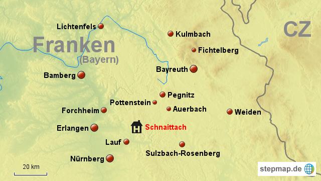 Fränkische Schweiz Karte.Stepmap Fränkische Schweiz 1 Landkarte Für Deutschland