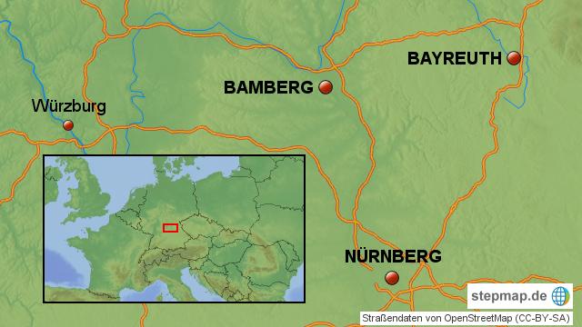 Fränkische Schweiz Karte.Stepmap Fränkische Schweiz Landkarte Für Deutschland