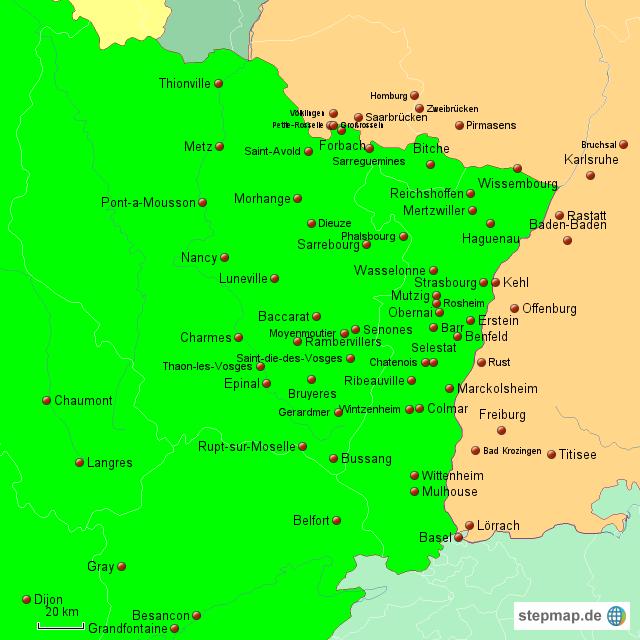 Elsass Karte.Stepmap France Elsass Landkarte Für Deutschland
