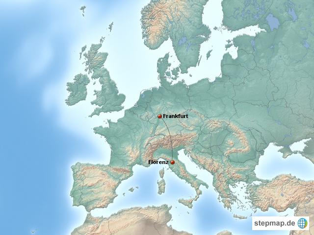 Frankfurt Karte Europa.Stepmap Frankfurt Florenz Landkarte Für Europa
