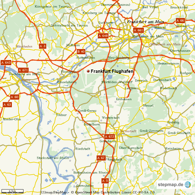 Stepmap Frankfurt Flughafen Landkarte Fur Welt