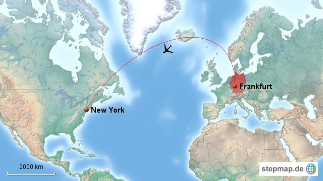 Entfernung New York Frankfurt