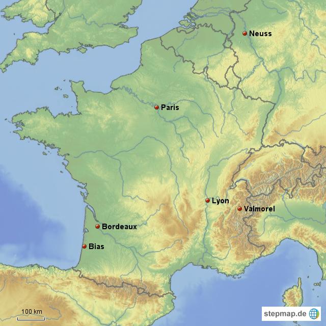 Frankreich Island Gelbe Karten