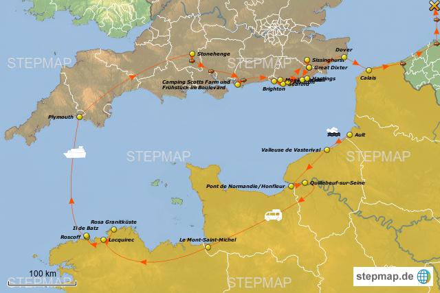 karte frankreich england StepMap   Frankreich / England   Landkarte für Frankreich