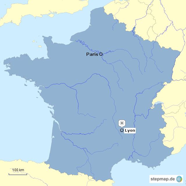 Lyon Karte.Stepmap Frankreich Lyon Landkarte Fur Frankreich