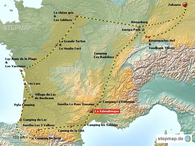 Cevennen Karte.Stepmap Frankreich Runde Cevennen Landkarte Für Deutschland