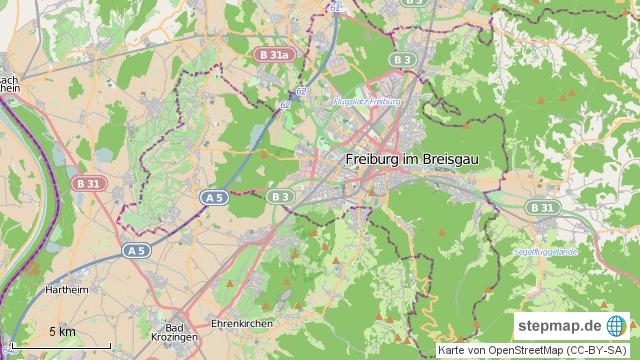 Freiburg Karte.Stepmap Freiburg Im Breisgau Landkarte Fur Deutschland