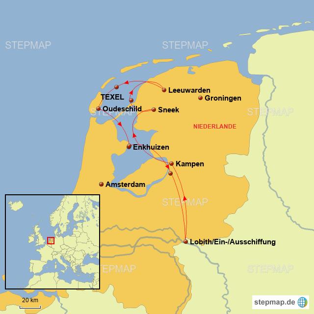 Karte Texel.Stepmap Friesland Und Insel Texel Landkarte Für Niederlande