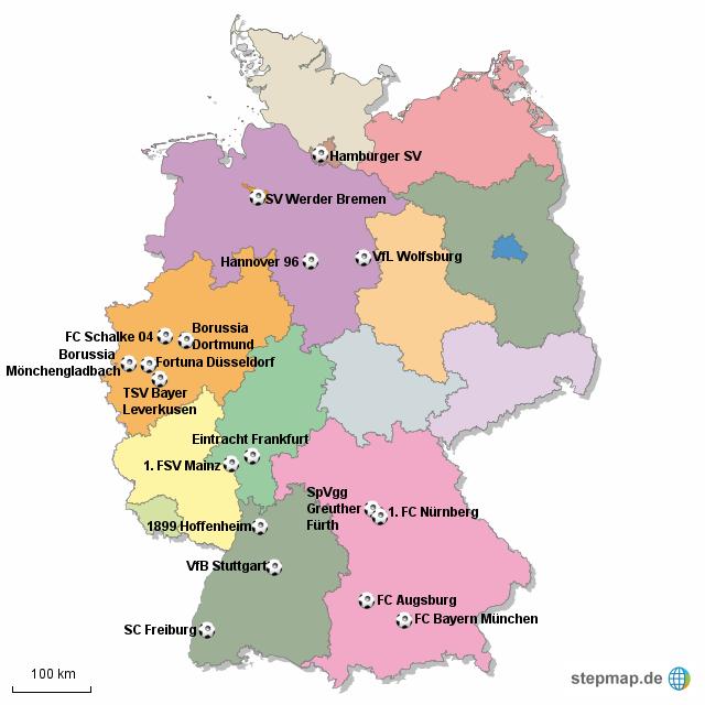 Fußball Bundesliga Karten