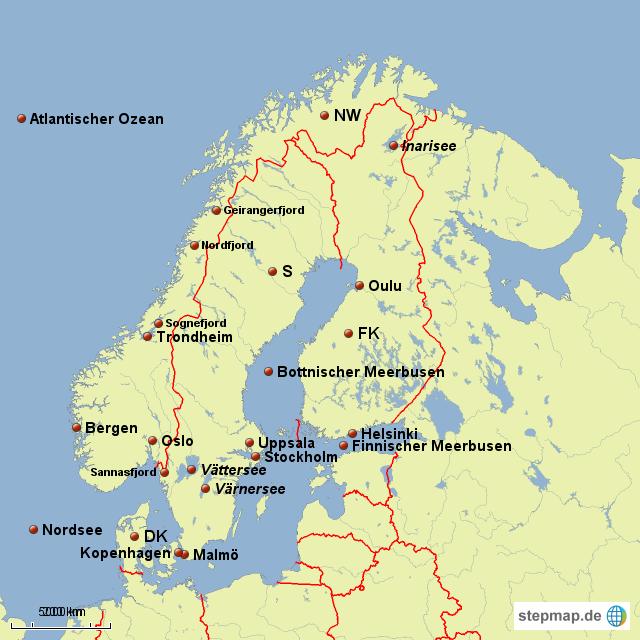 Karte Skandinavien.Stepmap Ganz Skandinavien Auf Einer Karte Landkarte Für Deutschland