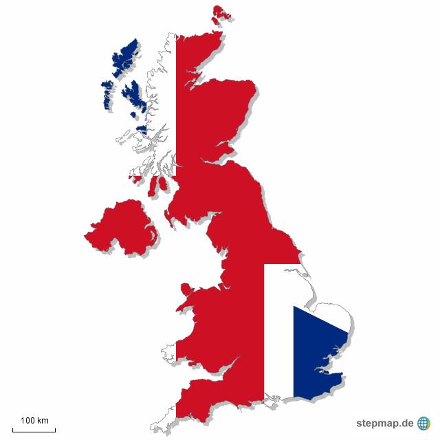 Großbritannien Karte Umriss.Stepmap Gb Landkarte Für Großbritannien