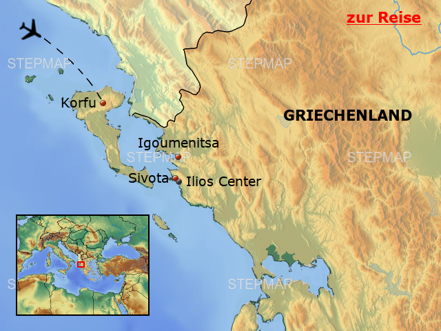 Tropical Grland Map on