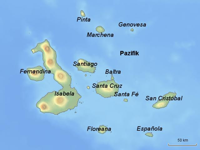 galapagos inseln karte StepMap   Galapagos Inseln Karte   Landkarte für Südamerika