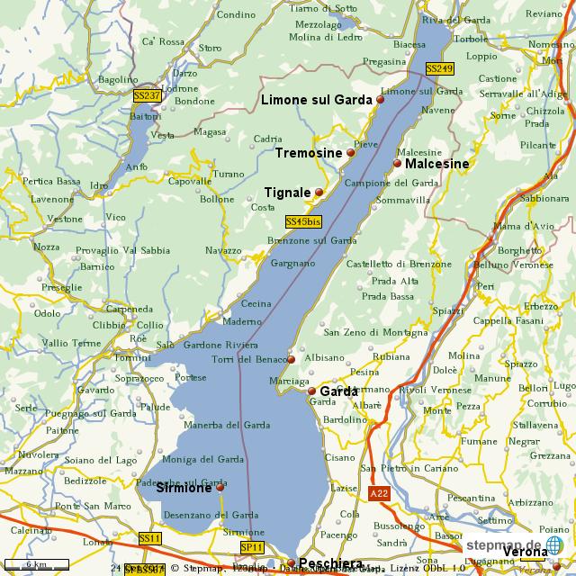 gardasee landkarte StepMap   Gardasee   Landkarte für Welt gardasee landkarte