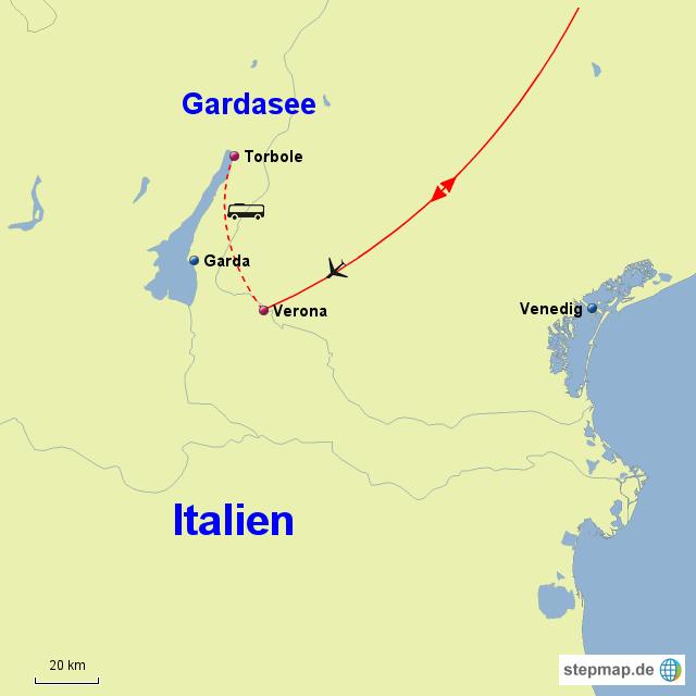 gardasee landkarte StepMap   Gardasee   VRE   Landkarte für Italien gardasee landkarte