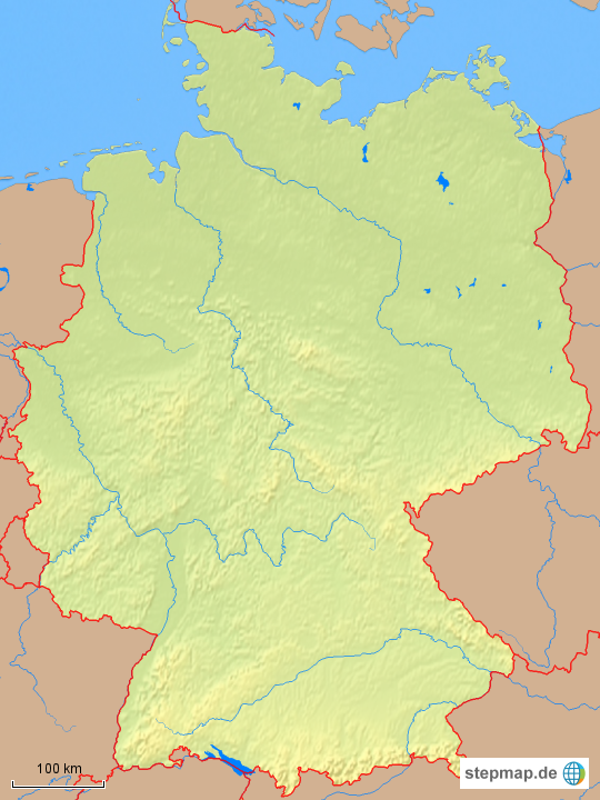 karte gebirge deutschland StepMap   Gebirge   Landkarte für Deutschland karte gebirge deutschland