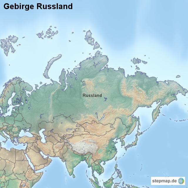 Stepmap Gebirge Russland Landkarte Fur Russland