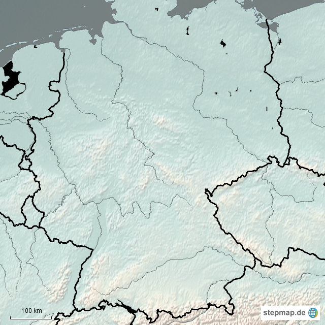 Stepmap Gebirge Und Flüsse Landkarte Für Deutschland