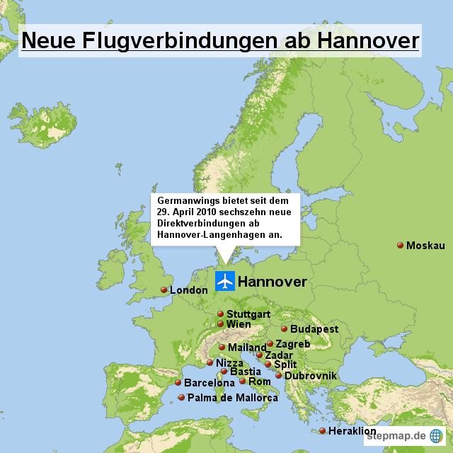 germanwings mit 16 neuen flugverbindungen ab hannover von. Black Bedroom Furniture Sets. Home Design Ideas