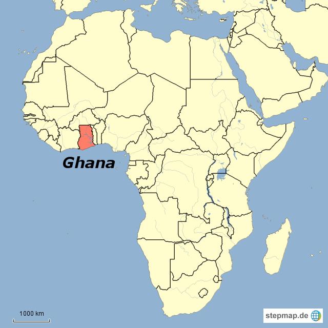 ghana karte StepMap   Ghana + Afrika mit Grenzen   Landkarte für Ghana