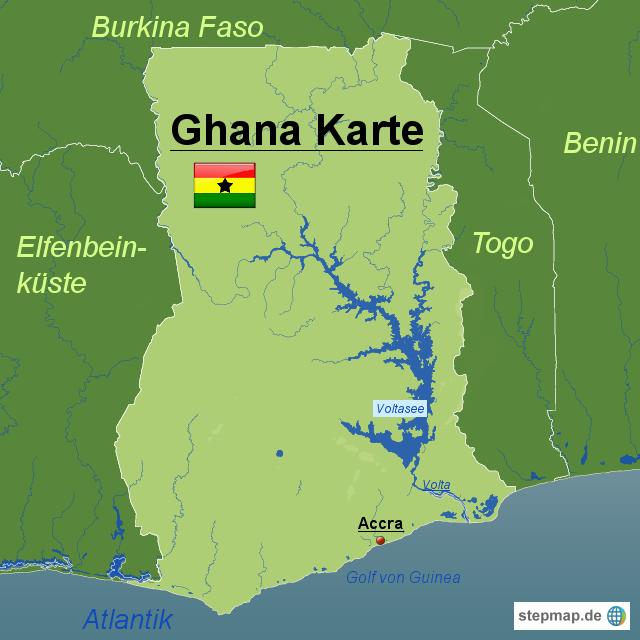 ghana karte StepMap   Ghana Karte   Landkarte für Ghana