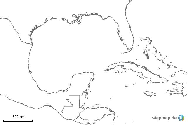 golf von mexiko schwarz wei von missapplebee landkarte f r nordamerika. Black Bedroom Furniture Sets. Home Design Ideas