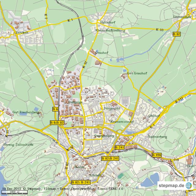 Goslar Karte.Stepmap Goslar Landkarte Für Welt