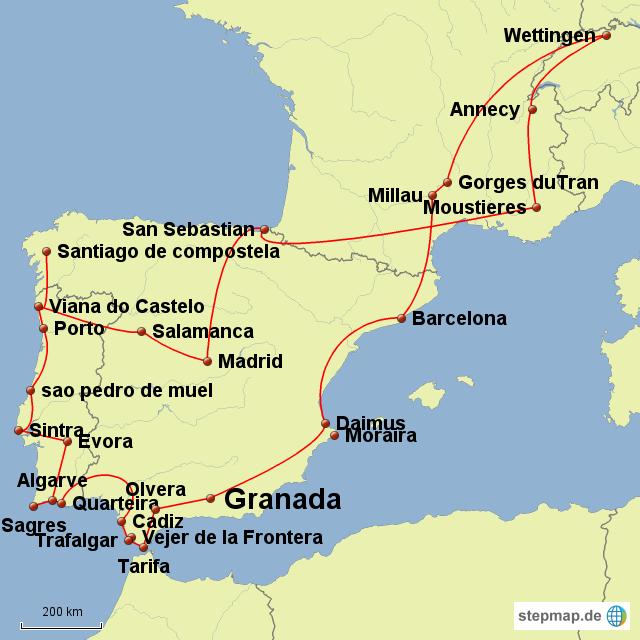 Granada Karte.Stepmap Granada Landkarte Für Europa
