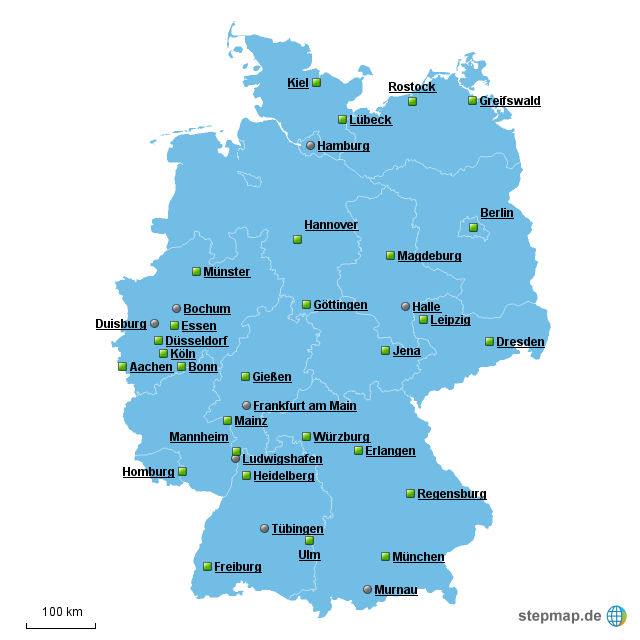 Landkarte Für Deutschland