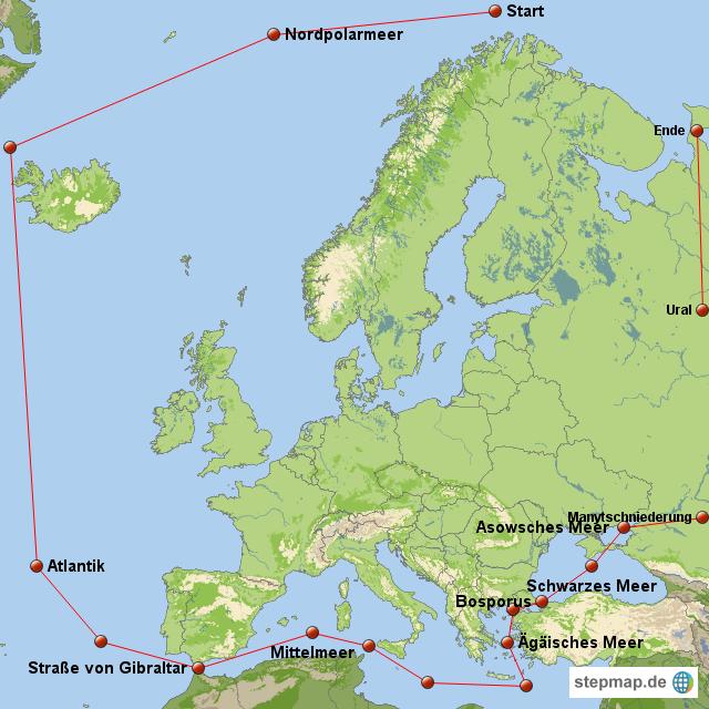 Nordpolarmeer Karte.Stepmap Grenzen Europa Landkarte Für Europa