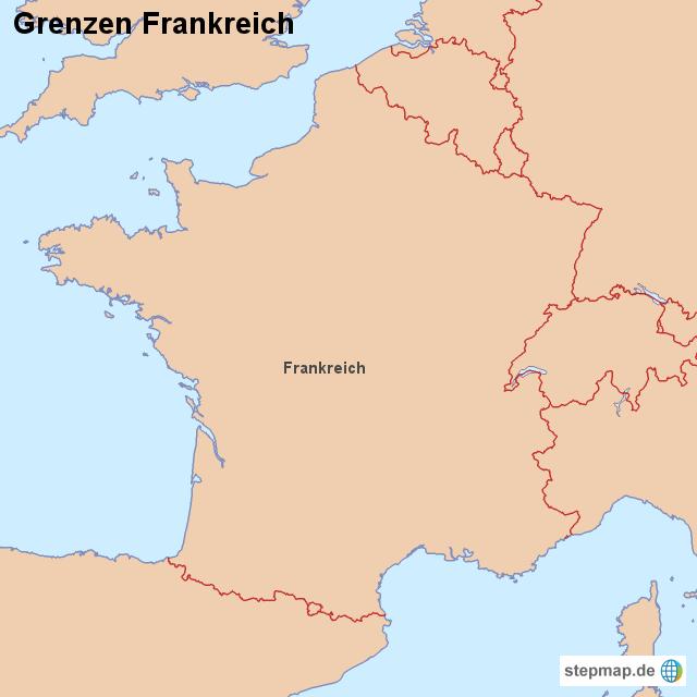 Frankreich Grenzen