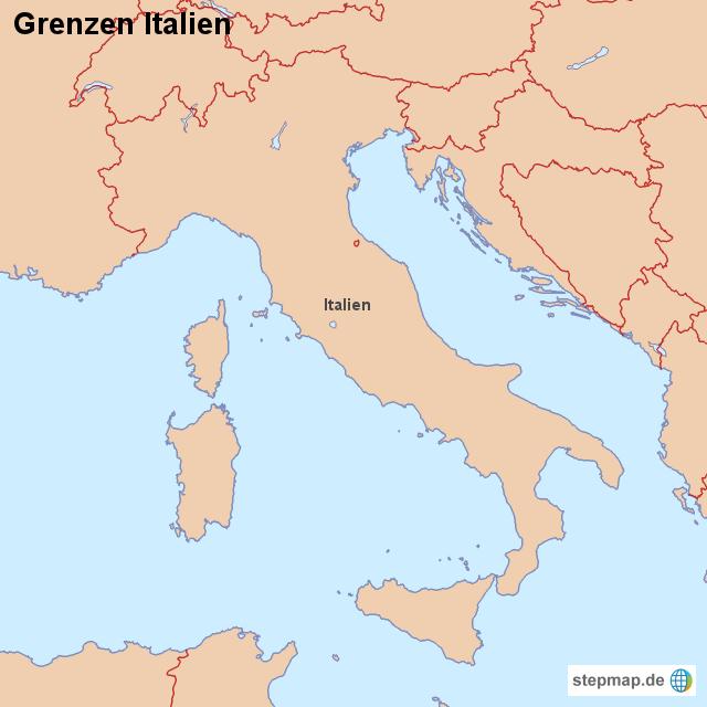 Italien Grenzen