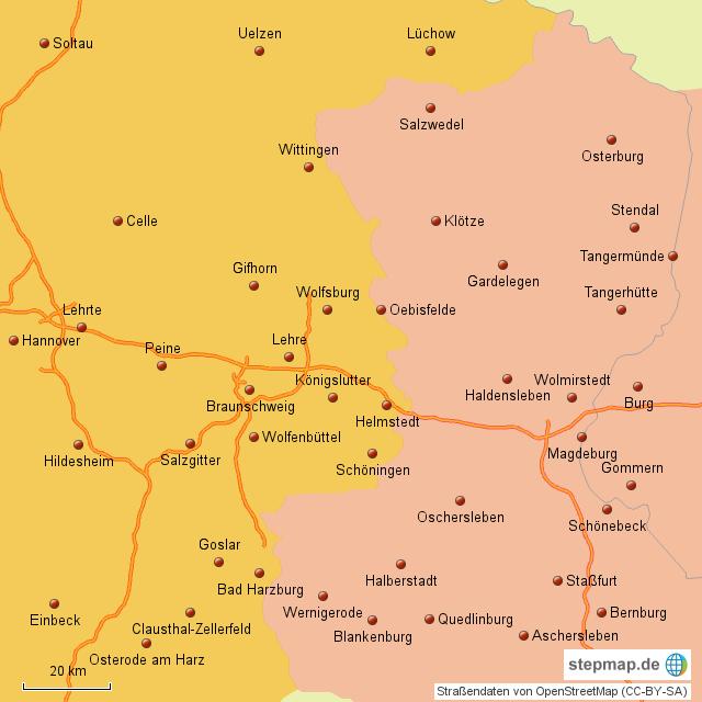 Karte Sachsen Anhalt.Stepmap Grenzregion Niedersachsen Sachsen Anhalt Landkarte Für